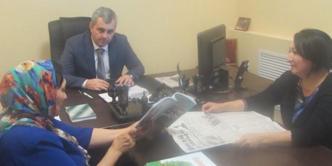 Энвер Керейтов встеритлся  с народным писателем республики Дагестан  Бийке Кулунчакова