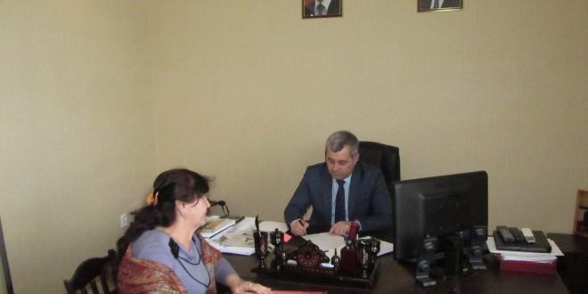 Глава Администрации Ногайского муниципального района  Энвер Керейтов  провёл очередной приём граждан по личным вопросам