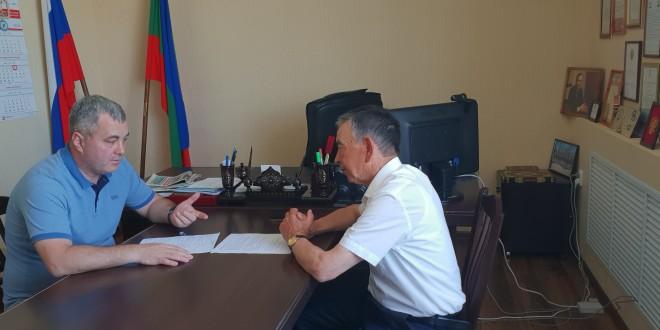 Рабочая встреча с главным врачом Ногайского района