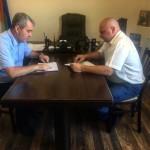 Ногайский муниципальный район посетил начальник Управления ветеринарии Карачаево-Черкесской Республики Владимир Фоминов