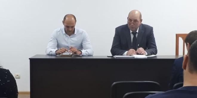 Рабочее совещание Мурата Хапиштова с работниками районной администрации.