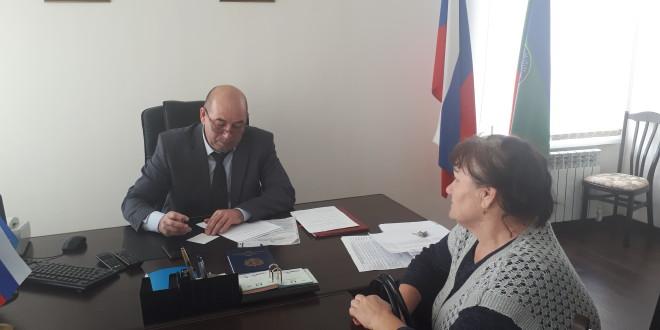 Глава Администрации Ногайского муниципального района провел личный прием граждан.