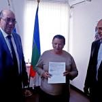 Семье чернобыльца вручили государственный жилищный сертификат