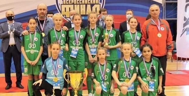 Команда девочек «Аьел» п. Эркен-Шахар  победили в финале Всероссийского турнира «Мини-футбол в школу».